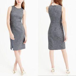 J. Crew Herringbone Wool Blend Dress